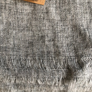 Grey Cashmere and Wool Scarf