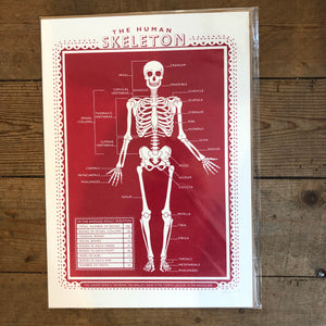 James Brown Human Skeletons print