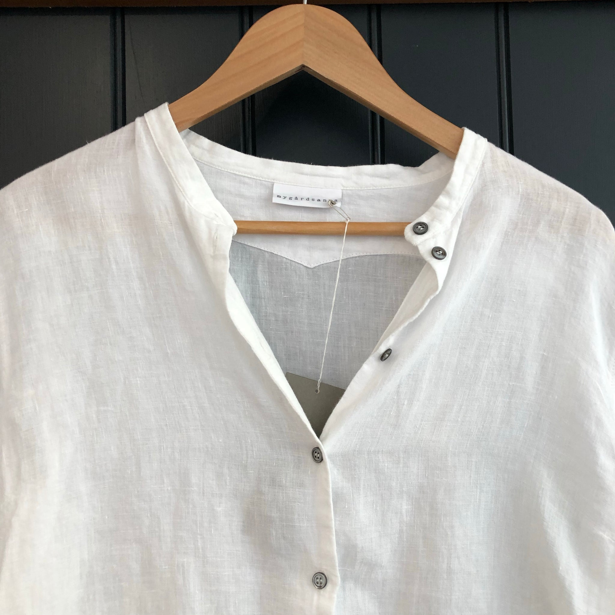 White Linen Grandpa Shirt