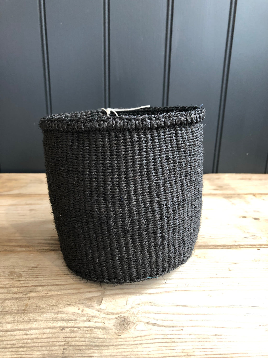 Charcoal Black Woven Basket