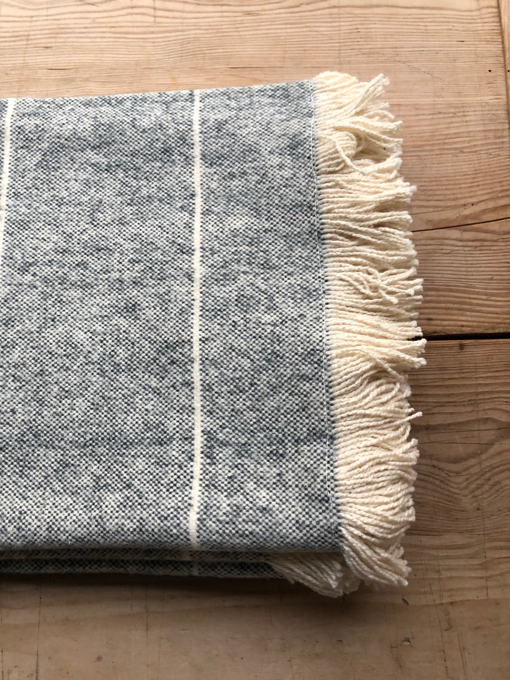 Navy Wild Stripe Throw