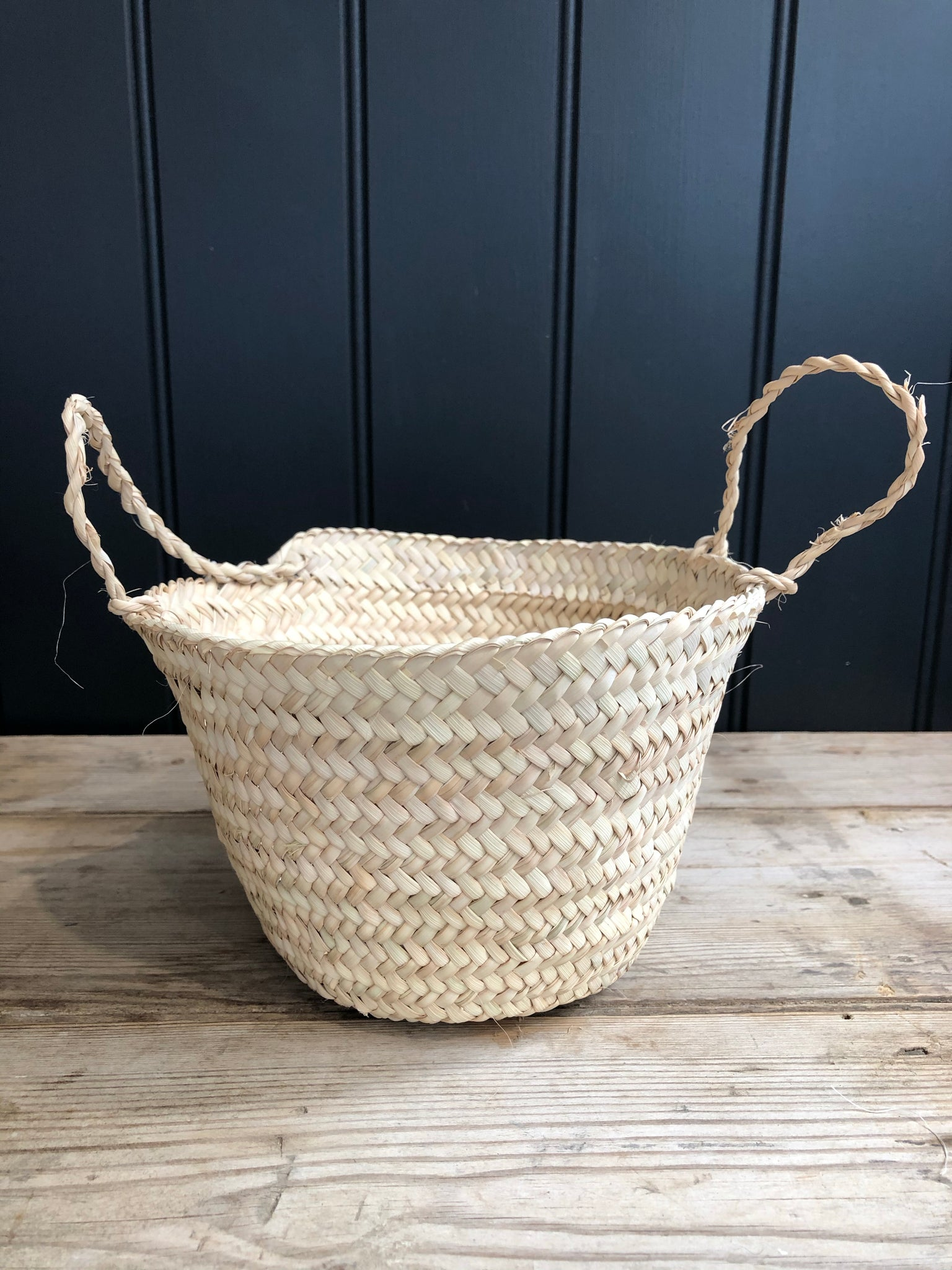 Moroccan Palm Leaf Basket
