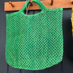 Jute Macrame Shopper - Green