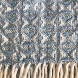 Tweedmill Duck Egg Cob Weave Throw