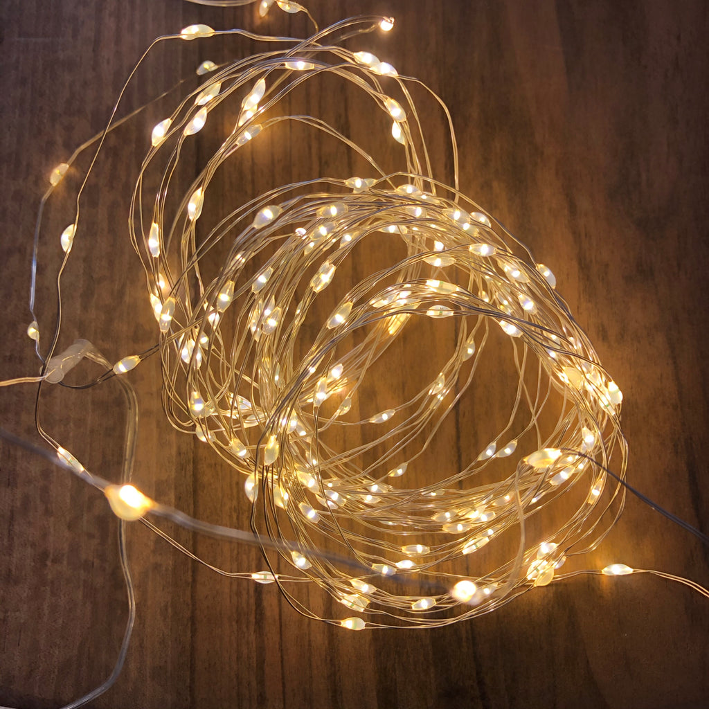 Christmas Wire Lights - Silver