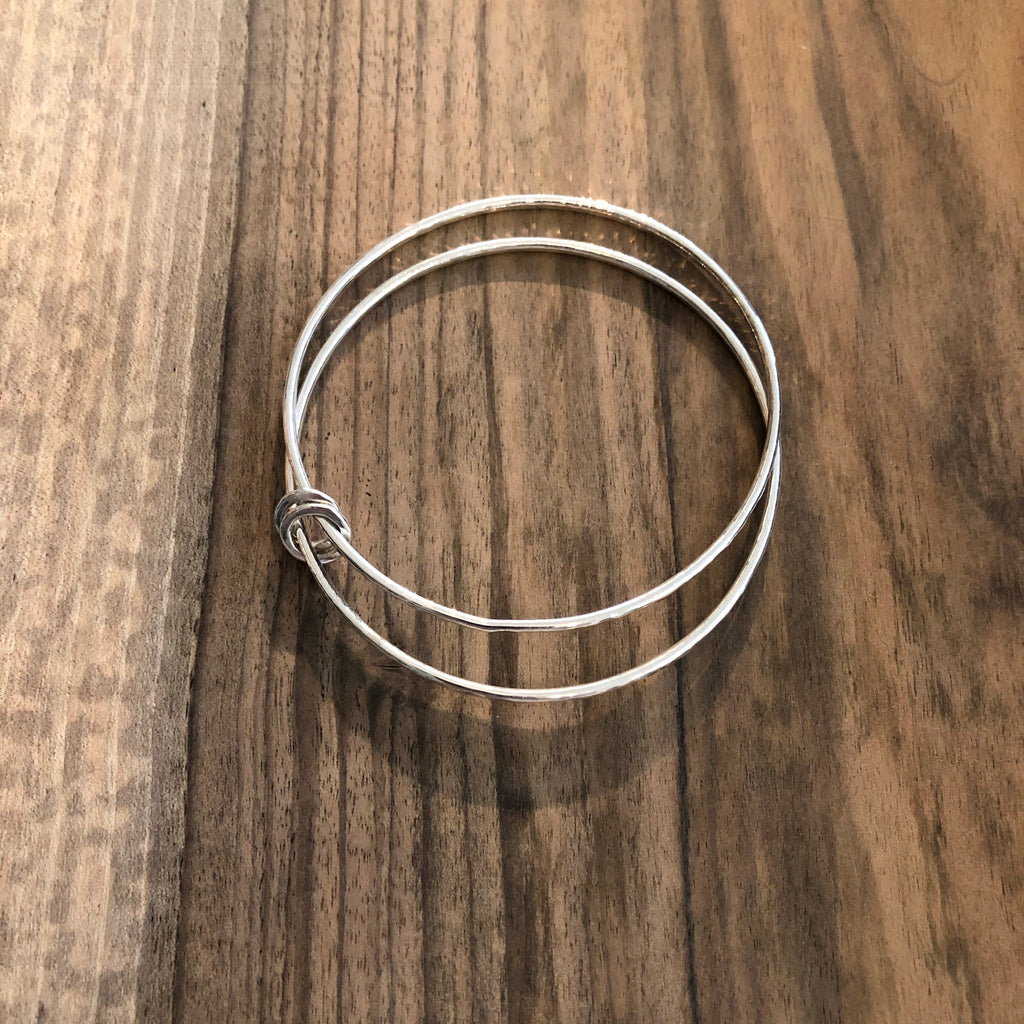 Double bangle with two hoops