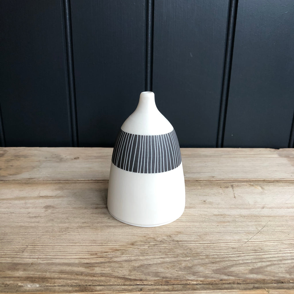 Black & White Ceramic Bottle Vase