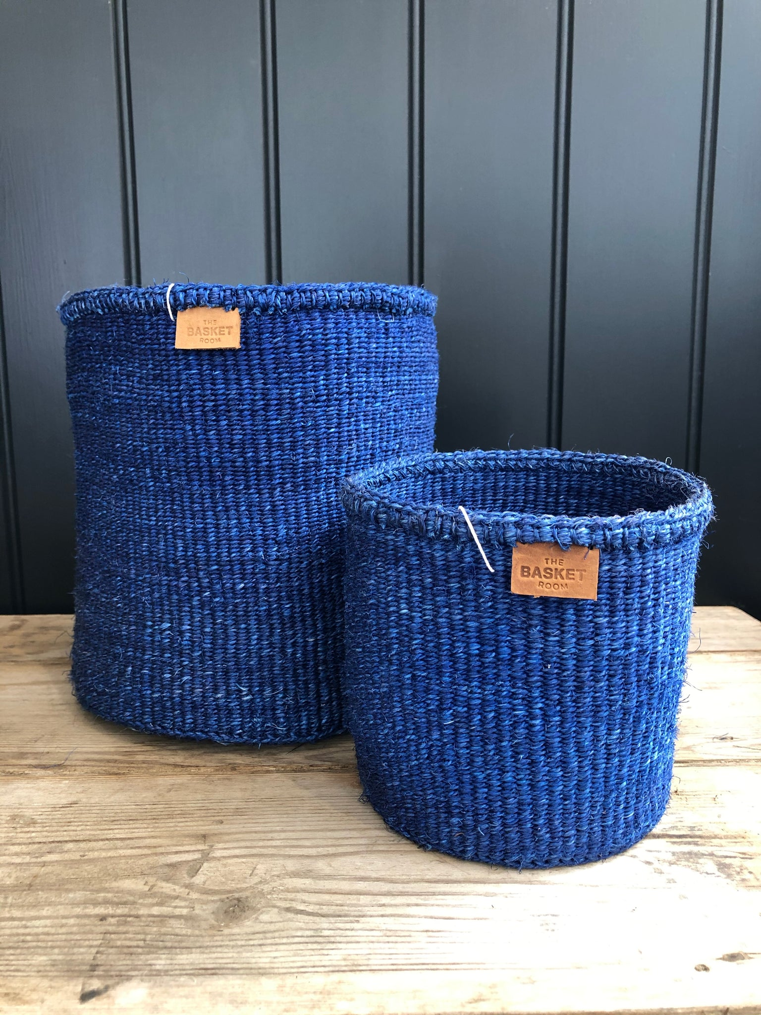 Denim Blue Woven Basket