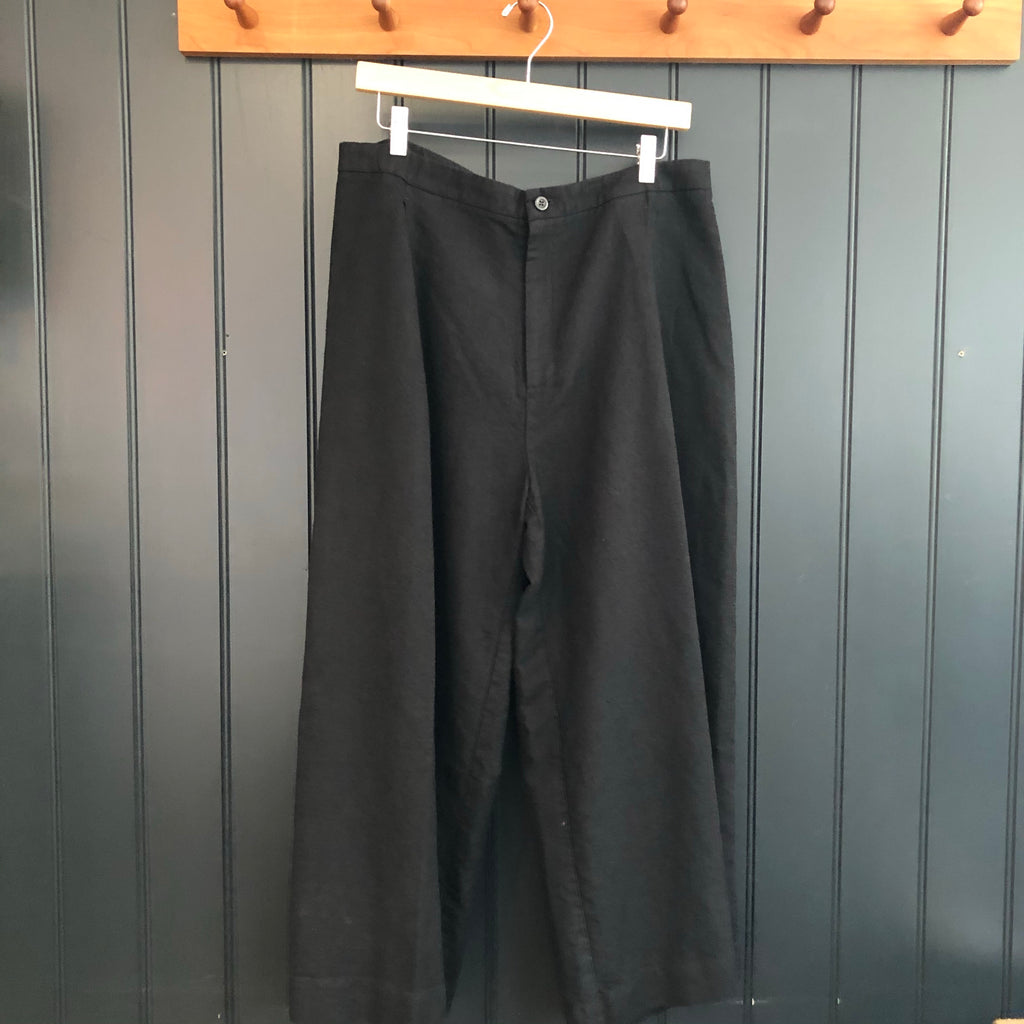 Black Linen & Cotton Culottes