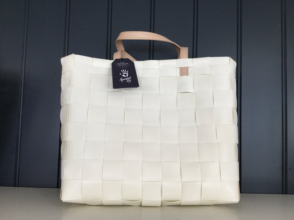 Cream White Petite Recycled plastic shopper