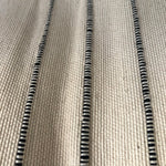 Moroccan Cotton FringeBedspread - Black & White Thin Stripe