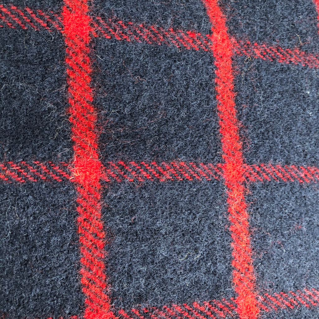Tweed mill Navy & Red Checked Throw