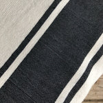 Moroccan Cotton Bedspread - Blue & White Stripe
