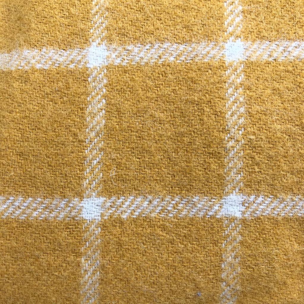 Tweed mill Yellow Checked Throw