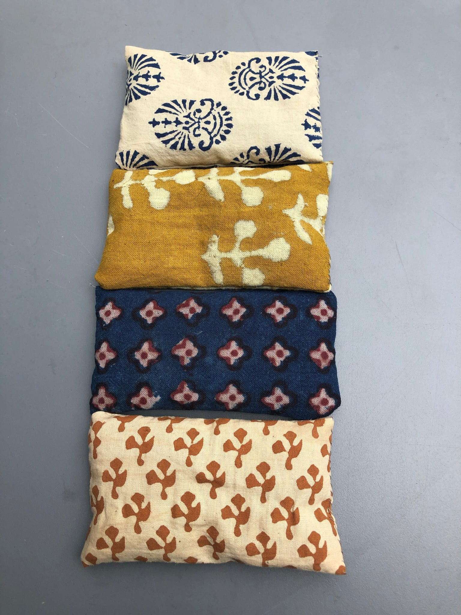 Lavender Bags - Indian Block Print fabrics