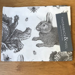 Thornback & Peel Grey Rabbit & Cabbage Tea Towel