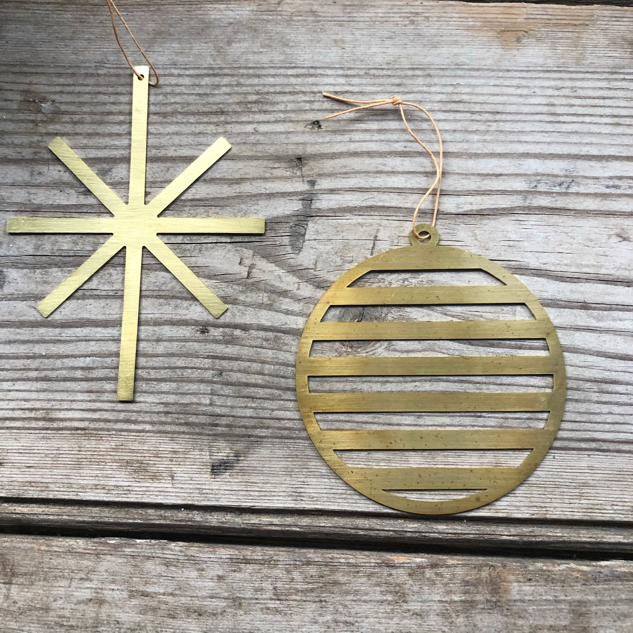 Brass Bauble Christmas Decoration