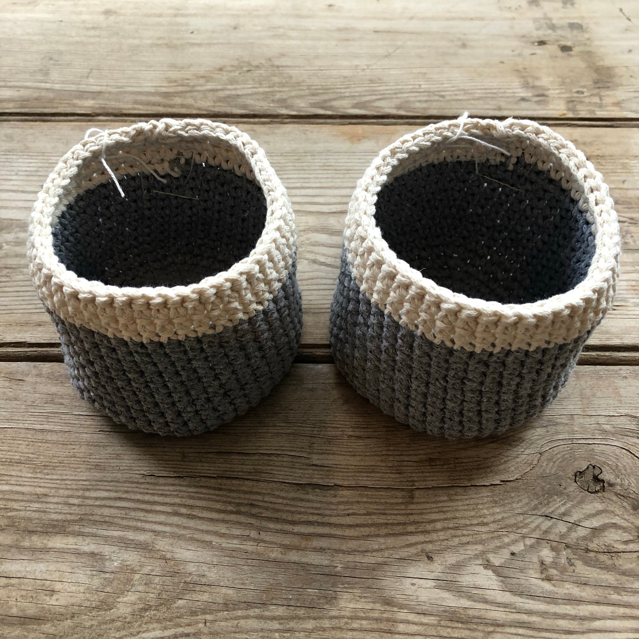 Headwest Grey Crochet Plant Holder