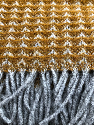 Tweedmill Treetop Dark Mustard Throw