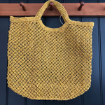 Jute Macrame Shopper - Yellow