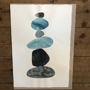 Blue Pebble Stack