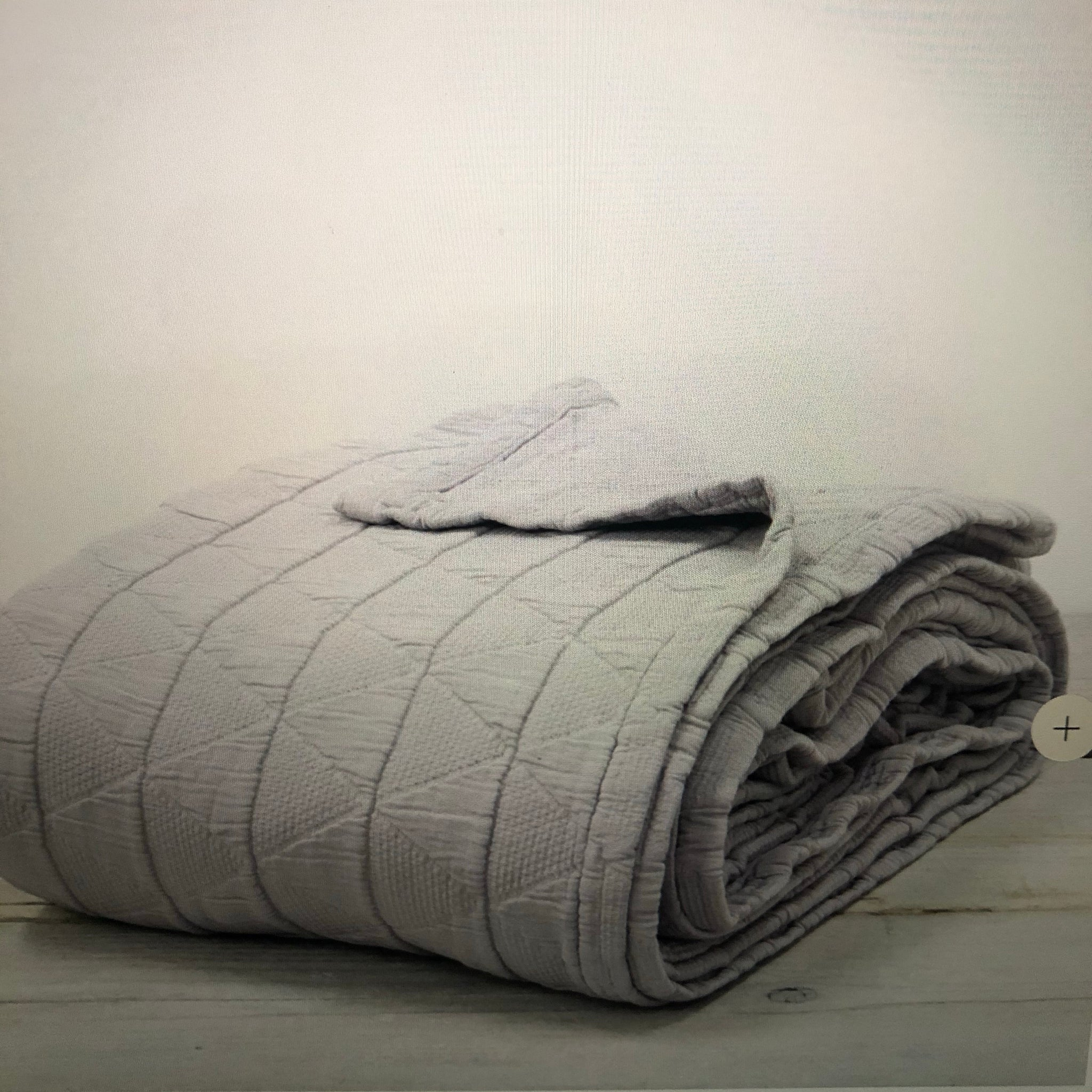 Stockholm Pewter Grey Throw/ Bedspread