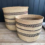 Vizuri Black and Natural Storage Basket