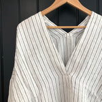 Linen V Neck Tunic Shirt