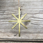 Brass Star Christmas Decoration