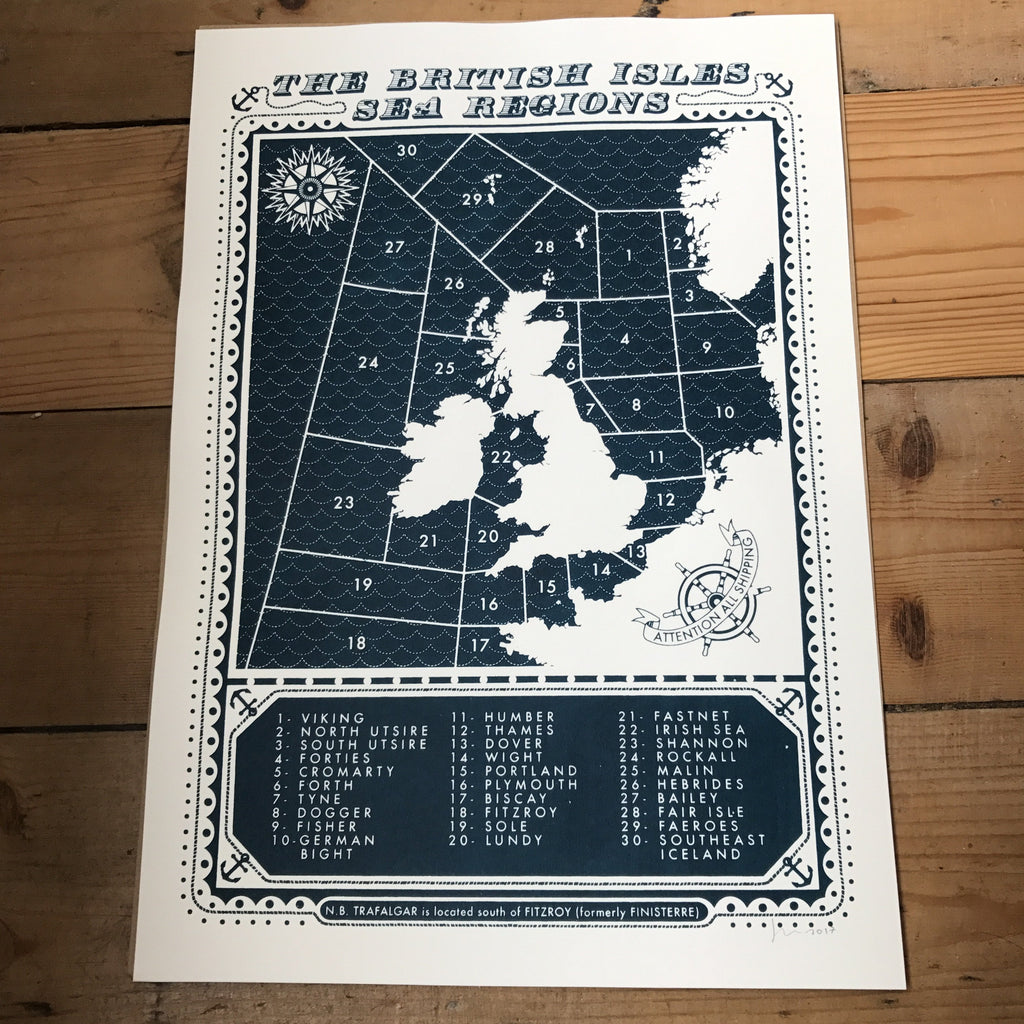 James Brown Sea Regions Print