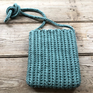 Headwest Turquoise Crochet Rome Cross Body Bag