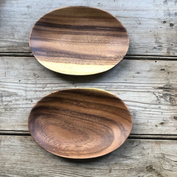 Small Acacia wood oval platter