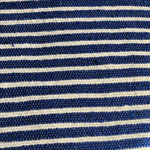 Moroccan Cotton Rug Blue and White Stripe