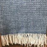 Tweedmill Illusion Blue Slate Throw