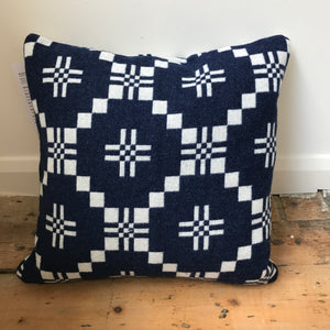 Melin Tregwynt St David's cross Indigo Cushion