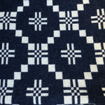 Melin Tregwynt St David's Cross Indigo throw