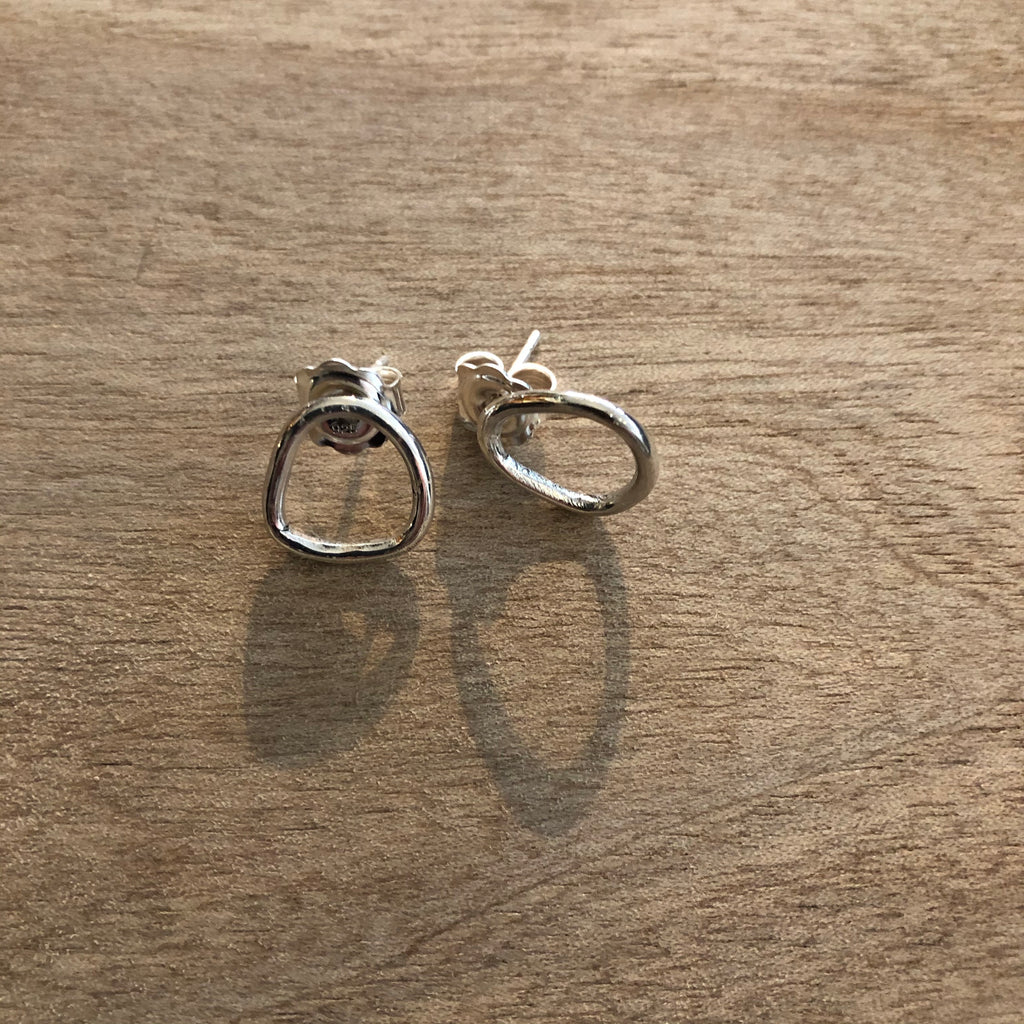 Small Pebble Earrings
