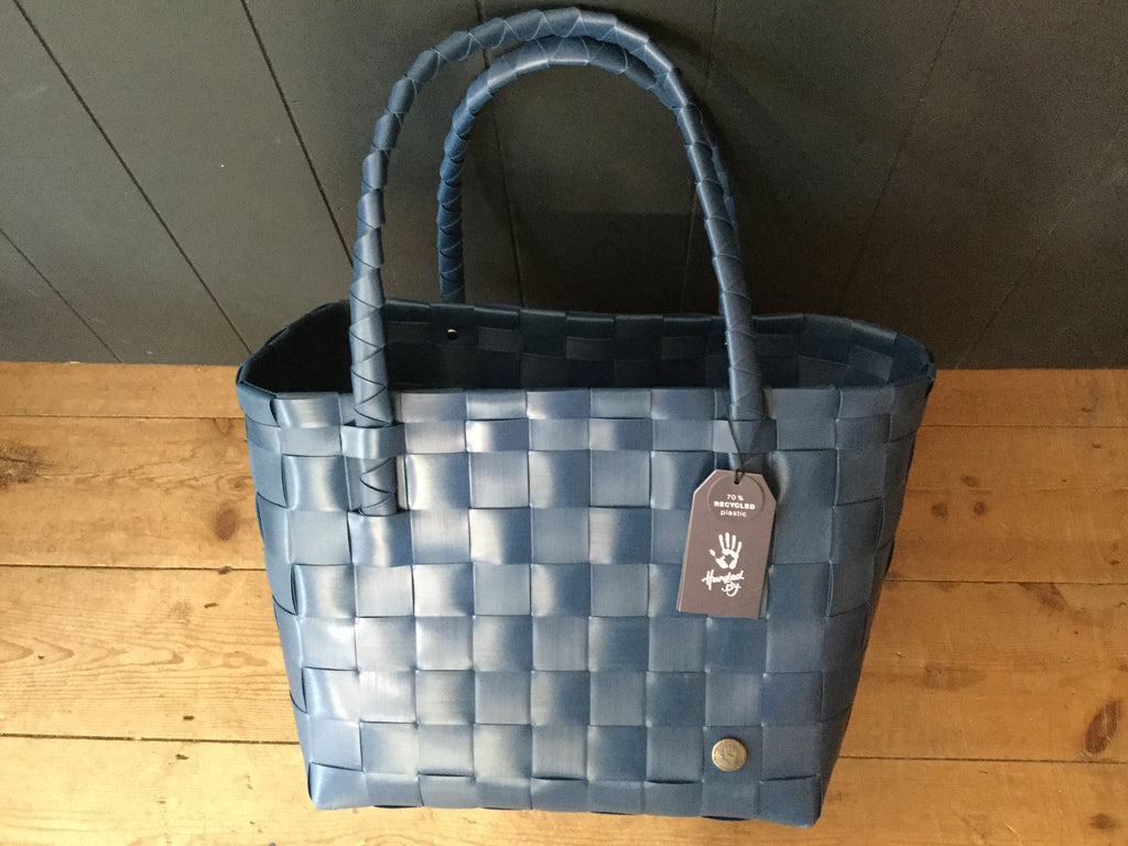 Paris recycled shopper, ocean blue