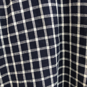 Blue and White Checked Cotton Shirt