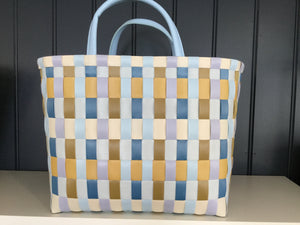 Mustard check Recycled plastic shopper