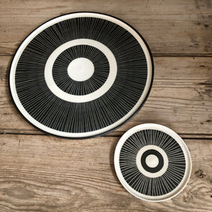 Black & White Ceramic Dish