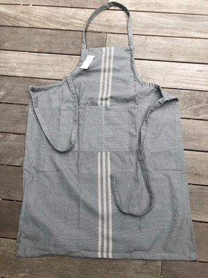 Weavers Green Linen Apron