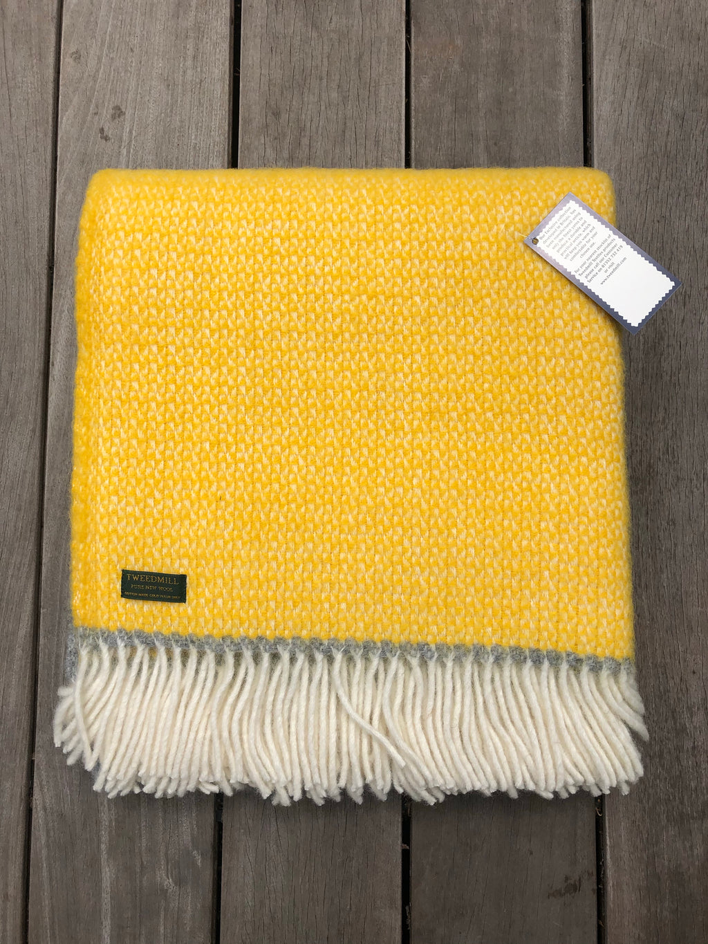 Tweedmill Illusion Panel  Yellow Throw