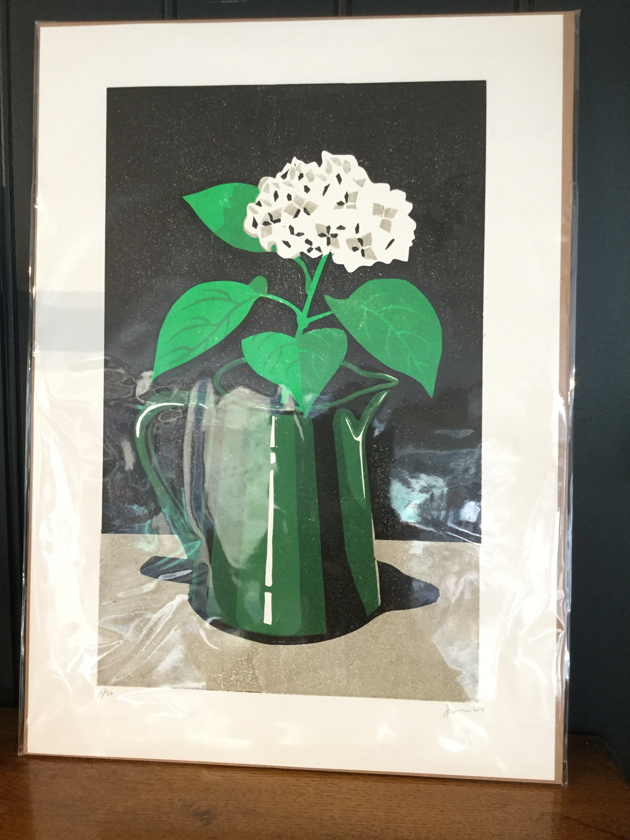 James Brown hydrangea print