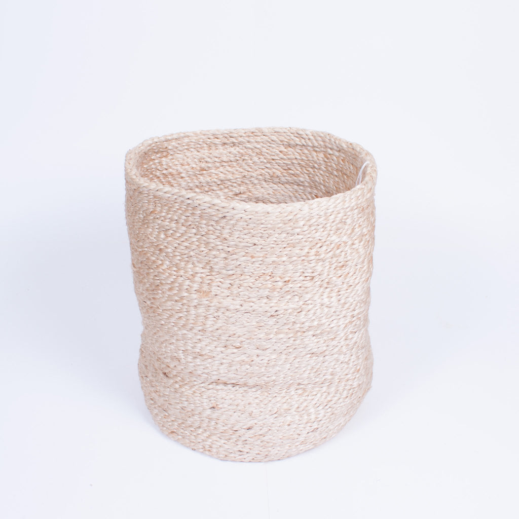 Tall Natural Jute Basket