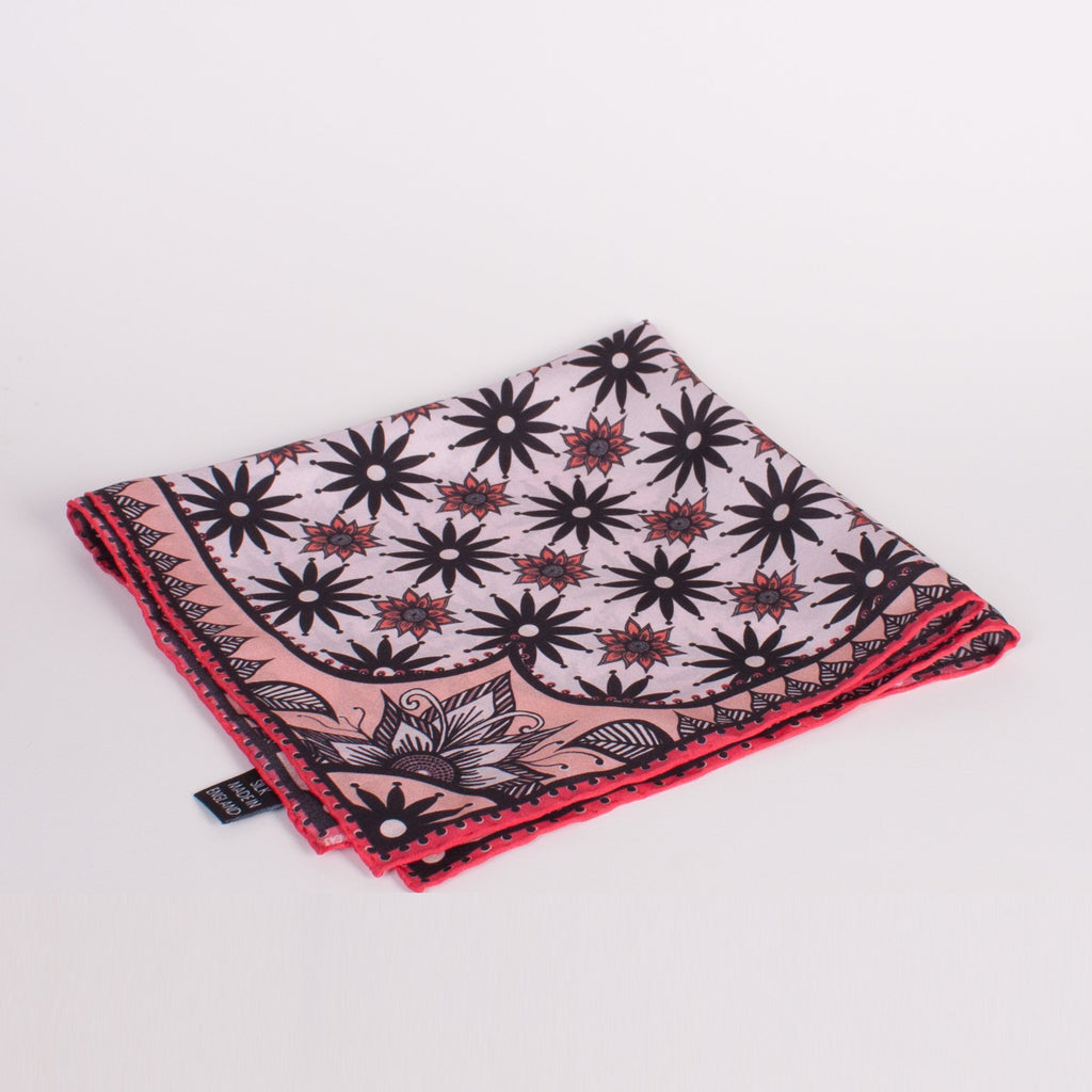 Geometric Print Silk Square