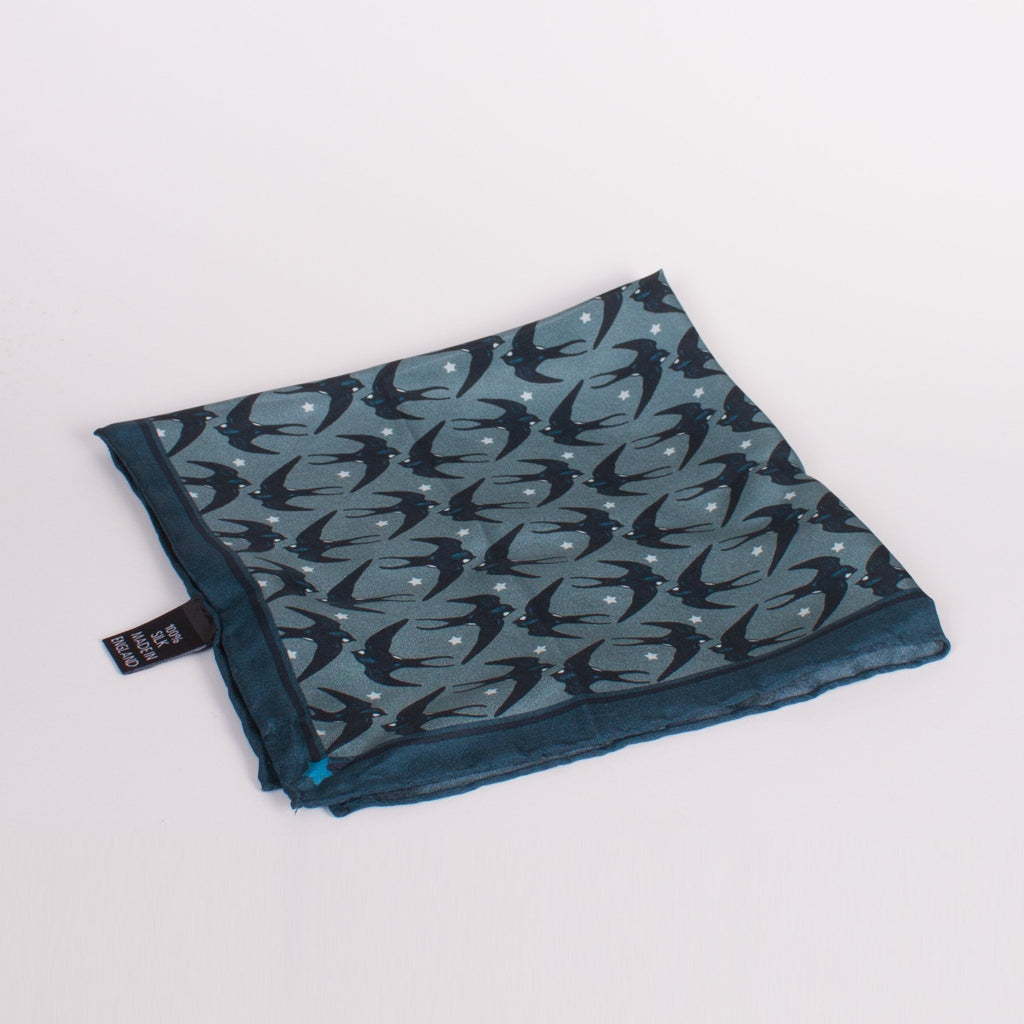 Swallow Print Silk Square