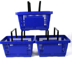 Blue Plastic Shopping Basket