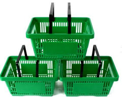 Green Plastic Shopping Basket