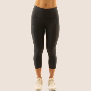 Charcoal Grey Flow 2 Freedom Exhale Cropped Period Proof Legging